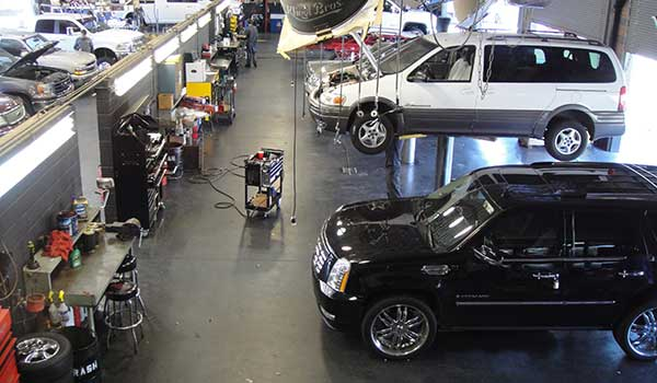 Salem Boys Auto Shop Overhead View