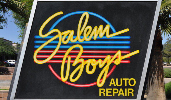 Salem Boys Auto Sign